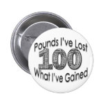 100 Pounds Lost Button