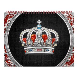 [100] Prince-Princess King-Queen Crown [Silver] Calendar