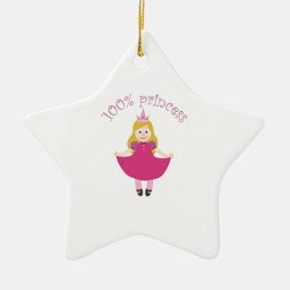 100% Princess Double-Sided Star Ceramic Christmas Ornament