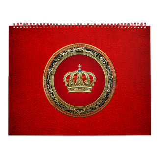 [100] Príncipe-Princesa Rey-Reina Crown [oro] Calendarios