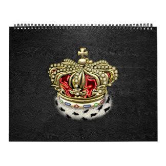 [100] Príncipe-Princesa Rey-Reina Royal Crown Calendario De Pared