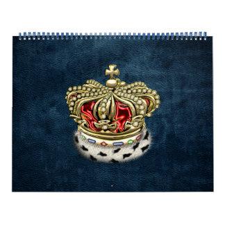 [100] Príncipe-Princesa Rey-Reina Royal Crown Calendarios