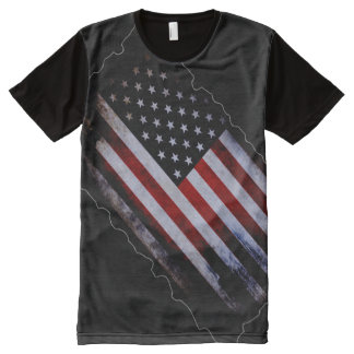100% Proud American Inside World Flag All-Over-Print Shirt