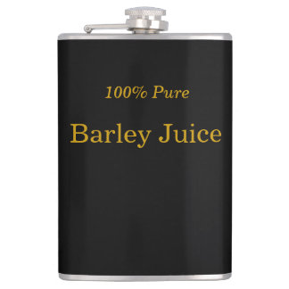 """100% Pure Barley Juice"" Whiskey Flask"