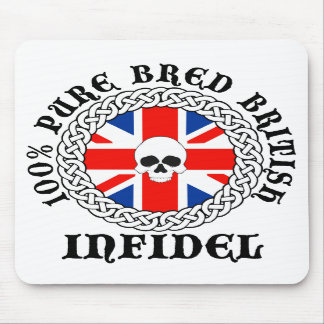100% Pure Bred British Infidel Mouse Mat Mouse Pad