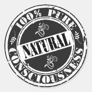 100% Pure Consciousness Classic Round Sticker