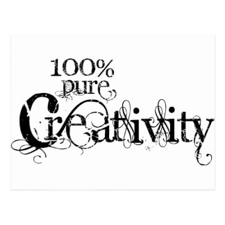 100% pure creativity logo design postcard