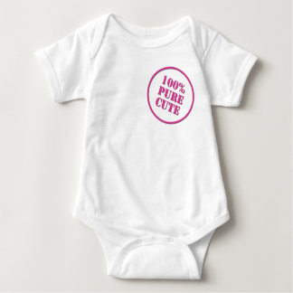 100% Pure Cute Baby Bodysuit