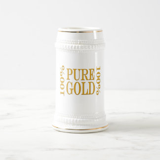 100% Pure Gold Beer Stein