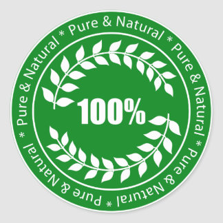100% Pure & Natural Sign Sticker