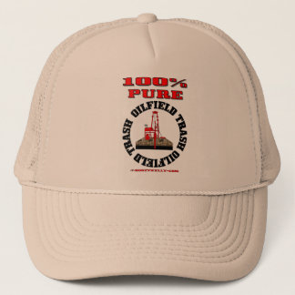 100% Pure Oil Field Trash,Oil Field Cap,Oil Rig Trucker Hat