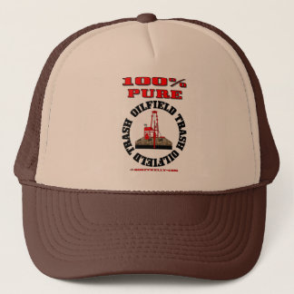 100% Pure Oil Field Trash,Oil Field Hat,Oil Rig, Trucker Hat