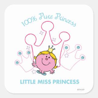 100% Pure Princess - Little Miss Princess Square Sticker