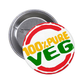 100% Pure Veg Button