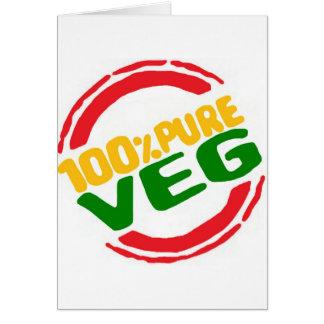 100% Pure Veg Card