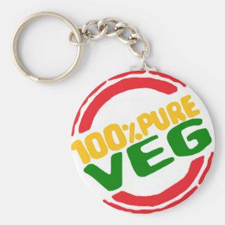 100% Pure Veg Keychain