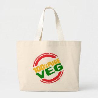 100% Pure Veg Large Tote Bag