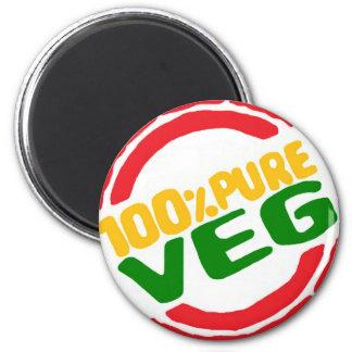 100% Pure Veg 2 Inch Round Magnet