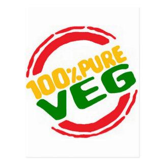 100% Pure Veg Postcard
