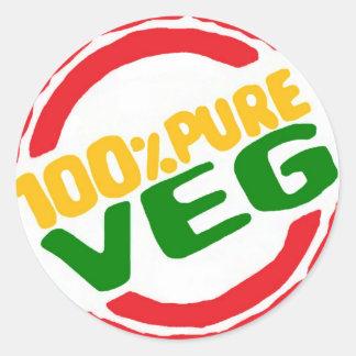 100% Pure Veg Sticker