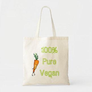 100% pure vegan - carrot tote bag