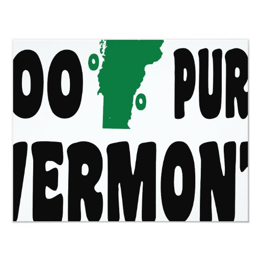 100% Pure Vermont 4.25x5.5 Paper Invitation Card