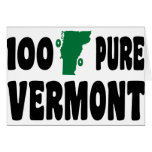 100% Pure Vermont Greeting Cards