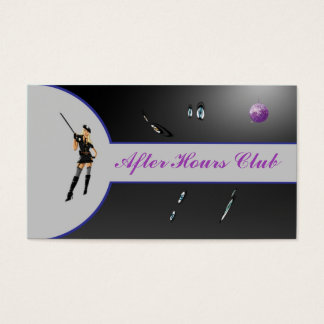 100 Purple and Black Lingerie Show Business Card