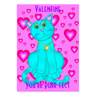 100 Purrr-fect Valentine's Day Cards Business Cards