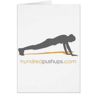 100 Push-Ups Greeting Card
