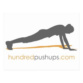 100 Push-Ups Post Card