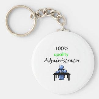 100% quality administrator basic round button keychain