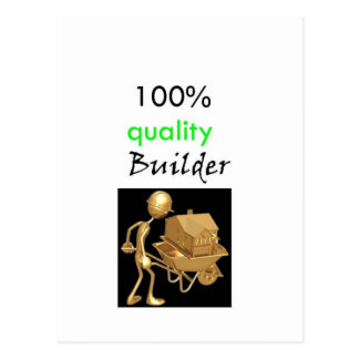 100% quality builder postcard