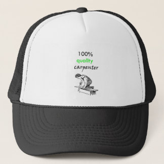 100% quality carpenter trucker hat