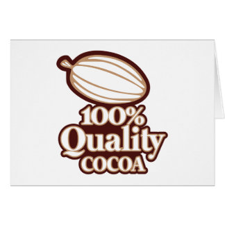 100% Quality Cocoa Card