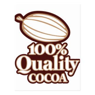 100% Quality Cocoa Postcard