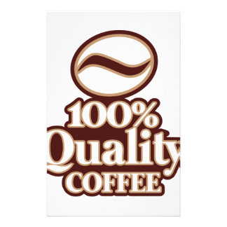 100% Quality Coffee Stationery
