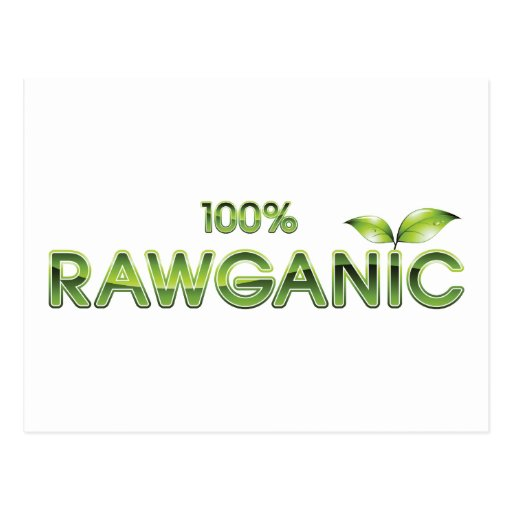 100% Rawganic Raw Food Postcard