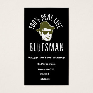 100% Real Live Bluesman Business Cards