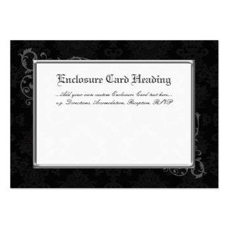 100 recintos góticos negro y blanco del boda del d plantillas de tarjetas personales