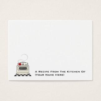 100 Recipe Cards - Small Retro Red Kitchen