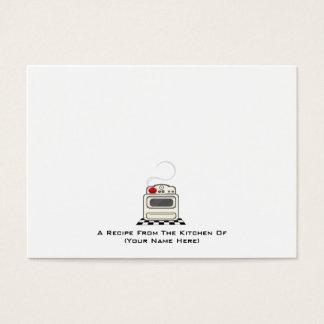100 Recipe Cards - Small Retro Red Kitchen 2