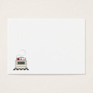 100 Recipe Cards - Small Retro Red Kitchen no text