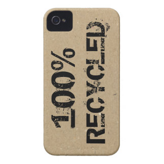 100 Recycled Print on Cardboard Case-Mate iPhone 4 Case