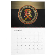 [100] Red and Yellow Dragons Calendar