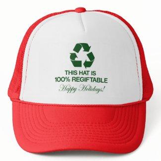 100% Regiftable Hat hat