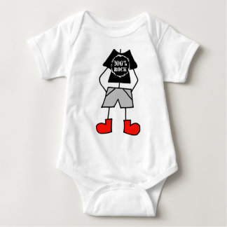 100% Rock Baby Bodysuit