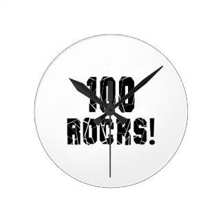 100 Rocks Birthday Designs Round Clock