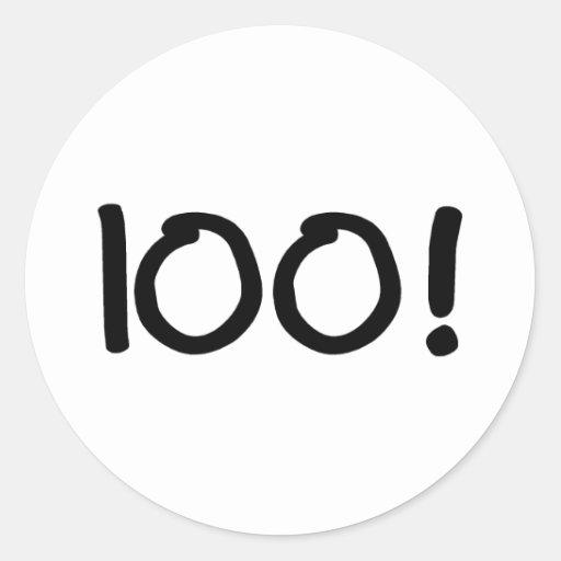 100 ROUND STICKERS
