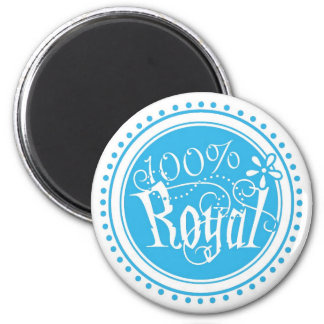 100% Royal 2 Inch Round Magnet